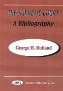 Supreme Court of the United States: A Bibliography - Seite 69