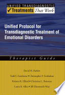 Cover of Unified Protocol for Transdiagnostic Treatment of Emotional Disorders