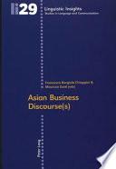 Asian Business Discourse S  Book PDF