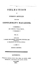 A Selection of Curious Articles from the Gentleman's Magazine