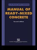 Manual of Ready Mixed Concrete
