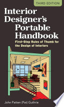 Interior Designer s Portable Handbook  First Step Rules of Thumb for the Design of Interiors Book