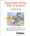 Amanda s First Day of School Book