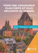 Pour une croissance plus forte et plus inclusive au Canada Pdf/ePub eBook