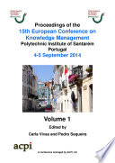 ECKM2014-Proceedings of the 15th European conference on Knowledge Management
