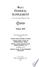 West's federal supplement. [First Series.]  , Band 833