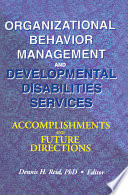 Organizational Behavior Management and Developmental Disabilities Services Book