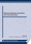 Materials Modeling Simulation And Characterization Book PDF