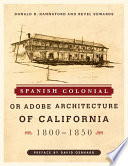 Spanish Colonial or Adobe Architecture of California