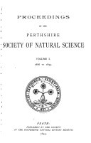 Transactions and Proceedings of the Perthshire Society of Natural Science