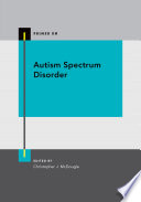 Autism Spectrum Disorder Book