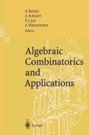 Algebraic Combinatorics and Applications