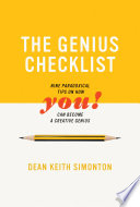 The Genius Checklist - Nine Paradoxical Tips on How You Can Become a Creative Genius