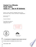 Standard X ray Diffraction Powder Patterns Book