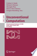 Unconventional Computation Book PDF