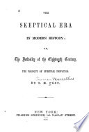 The Skeptical Era in Modern History