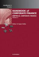 Handbook of Corporate Finance Book