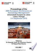 ECKM 2019 20th European Conference on Knowledge Management 2 VOLS