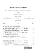 ARCTIC ANTHROPOLGY
