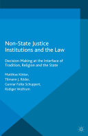 Non-State Justice Institutions and the Law Pdf/ePub eBook