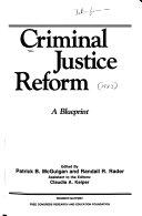 Criminal Justice Reform Book PDF