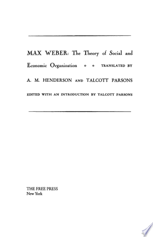 The+Theory+Of+Social+And+Economic+Organization