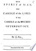 The Spirit of Man, the Candle of the Lord