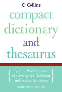 Collins Compact Dictionary   Thesaurus  2e