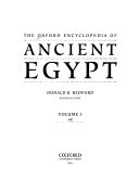 The Oxford Encyclopedia of Ancient Egypt: P-Z