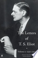 The Letters of T  S  Eliot Volume 5  1930 1931