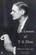 The Letters of T. S. Eliot Volume 5: 1930-1931 Pdf/ePub eBook