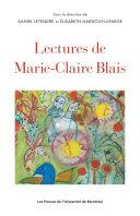 Pdf Lectures de Marie-Claire Blais Telecharger