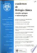 Cuadernos de filología clásica  : Estudios griegos e indoeuropeos , Volumes 13-14; Volume 18