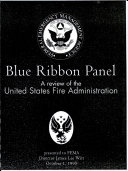 Blue ribbon panel: a review of the United States Fire Administration ebook