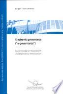 Electronic Governance E Governance