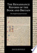 The Renaissance Reform of the Book and Britain