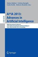 AI IA 2013  Advances in Artificial Intelligence