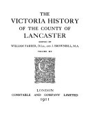 The Victoria History of the County of Lancaster