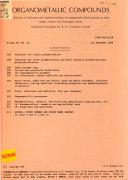 Organometallic Compounds Book