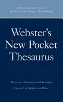 Webster's New Pocket Thesaurus