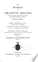 The works of Francis Bacon, Works 1860