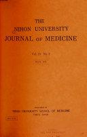 The Nihon University Journal of Medicine Book