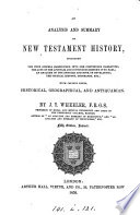 An Analysis And Summary Of New Testament History