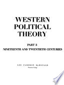 Western Political Theory: from Its Origins to the Present