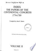Index  The Papers of the Continental Congress  1774 1789  Chronology