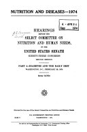 HEARINGS BEFORE THE SELECT COMMITTEE ON NUTRITION AND HUMAN NEEDS OF THE UNITED STATES SENATE