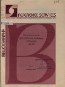 Reference Bibliography National Library Service For The Blind And Physically Handicapped