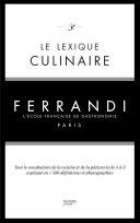 Pdf Le lexique culinaire de Ferrandi Telecharger