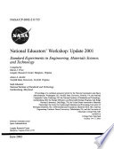 National Educators  Workshop  Update 2001  Standard Experiments in Engineering  Materials Science  and Technology