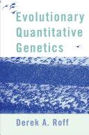 Pdf Evolutionary Quantitative Genetics Telecharger